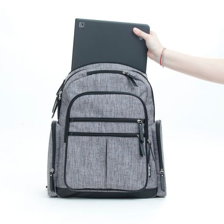 Baby Boom Places and Spaces Backpack Diaper Bag - Grey - image 5 of 8