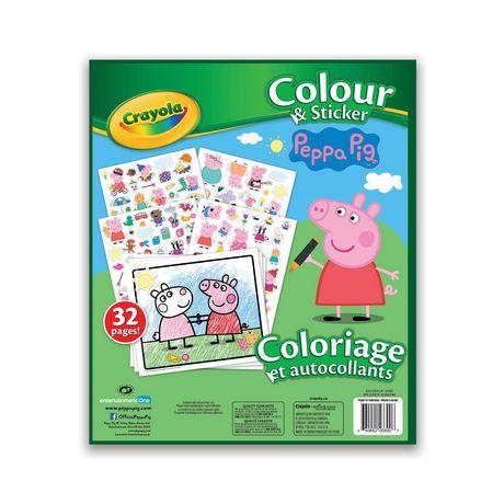 Livre à colorier et autocollants Crayola, Peppa Pig - image 2 de 2