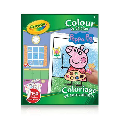 Livre à colorier et autocollants Crayola, Peppa Pig - image 1 de 2