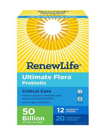 Renew Life Ultimate Flora Critical Care Go Pack, Probiotic, 50 Billion Capsule, 20 Count - image 1 of 6