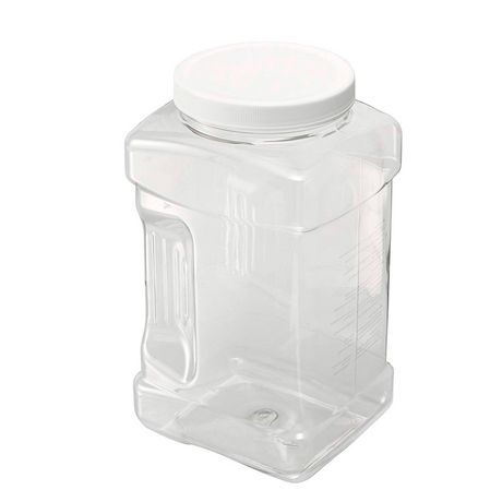 Rubbermaid Square Food Storage Jar, 3.8 Litre, White - image 3 of 5