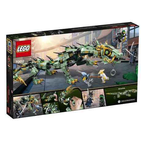 Ens de construction green ninja mech dragon lego the ninjago movie 70612 walmart canada - Lego ninjago a colorier ...
