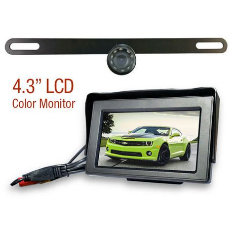 License Plate Wired Rear View Camera - image 1 of 5