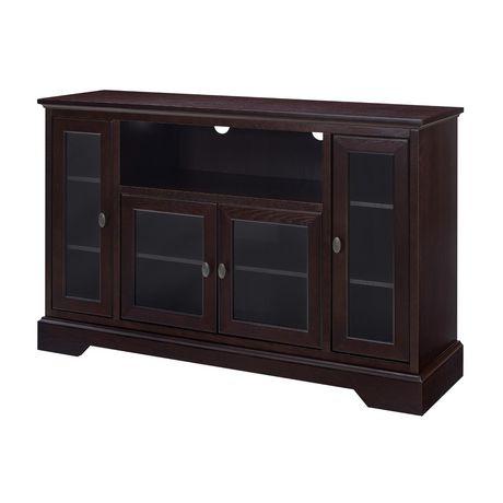 WE Furniture Walker Edison Espresso Wood Highboy TV Media Stand Storage Console - image 3 of 5