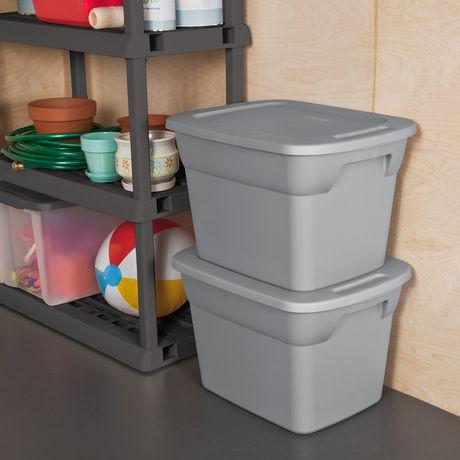 bac de manutention sterilite de 68 litres en gris walmart canada. Black Bedroom Furniture Sets. Home Design Ideas