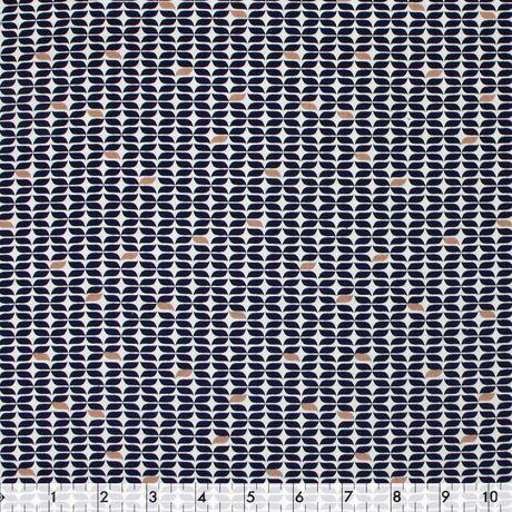 Fabric By The Metre - Fabric Creations Cotton - Navy French Knot - image 1 of 1
