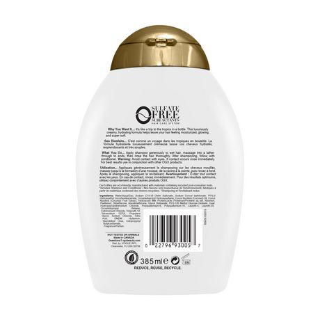OGX Nourishing + Coconut Milk Shampoo - image 2 of 5
