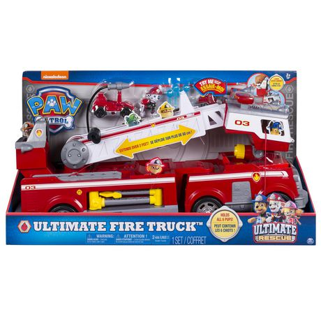 PAW Patrol - Ultimate Rescue Fire Truck with Extendable 2 Ft. Tall Ladder, for Ages 3 And up - image 2 of 9