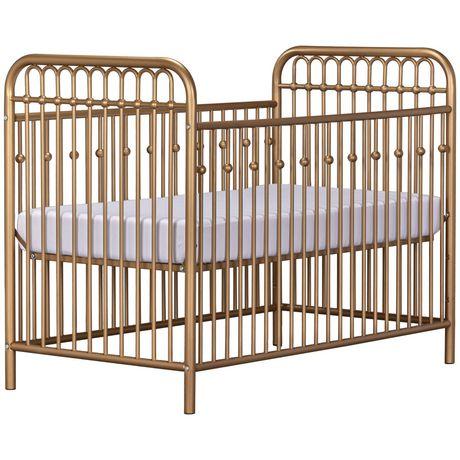 Lit de bébé Monarch Hill en métal, or - image 5 de 8
