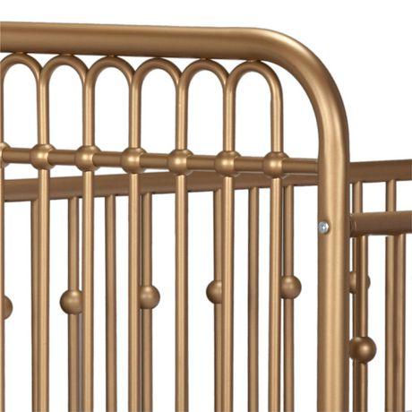 Lit de bébé Monarch Hill en métal, or - image 6 de 8