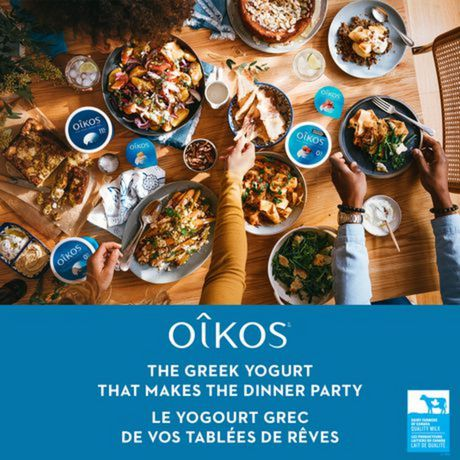 OIKOS Greek Yogurt, Banana Flavour, 2% M.F., 100g (Pack of 4) - image 2 of 6
