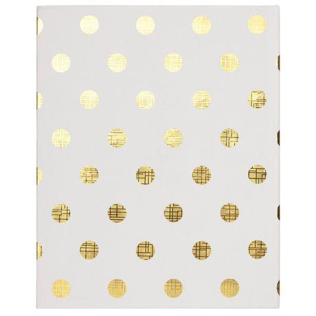 Pinnacle Frames 2-up Gold Foil Dots Photo Album - image 2 of 4