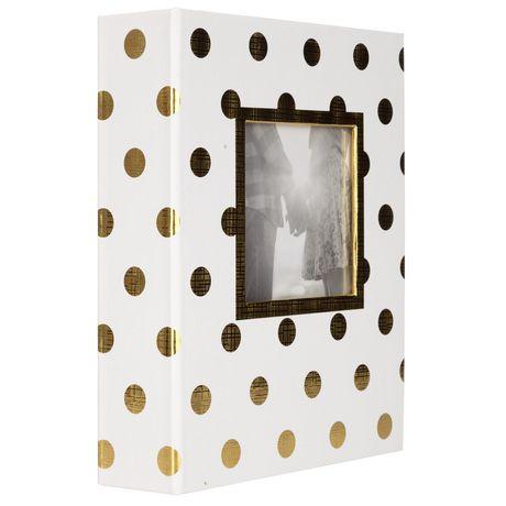 Pinnacle Frames 2-up Gold Foil Dots Photo Album - image 4 of 4