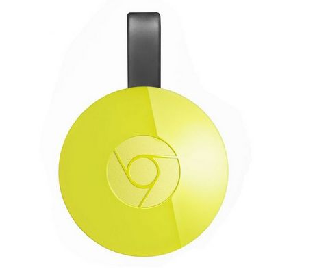 Google Chromecast Streaming Media Player 2nd Gen GA3A00189-A03-Y20 - Yellow - image 1 of 3