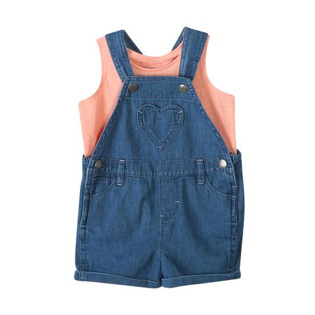 6cd3a4f1d12f0 George baby Girls' 2-Piece Tank Top And Shortall Set | Walmart Canada