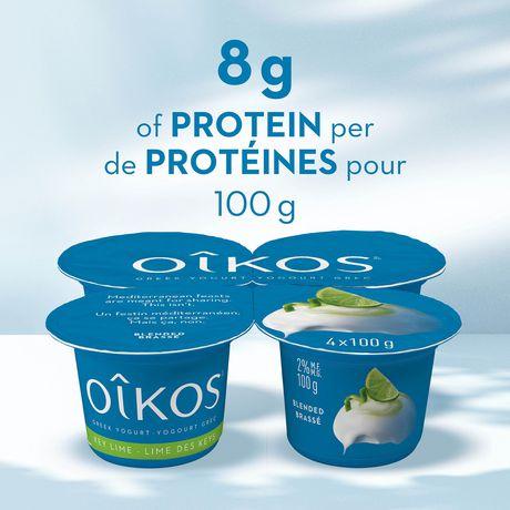 OIKOS Greek Yogurt, Key Lime Flavour, 2% M.F., 100g (Pack of 4) - image 3 of 5