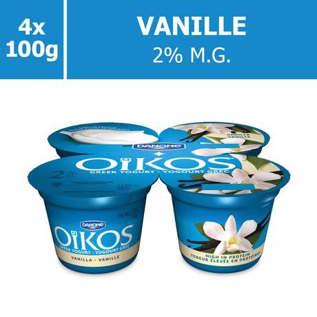 OIKOS Greek Yogurt, Vanilla Flavour, 2% M.F., 100g (Pack of 4) - image 5 of 6