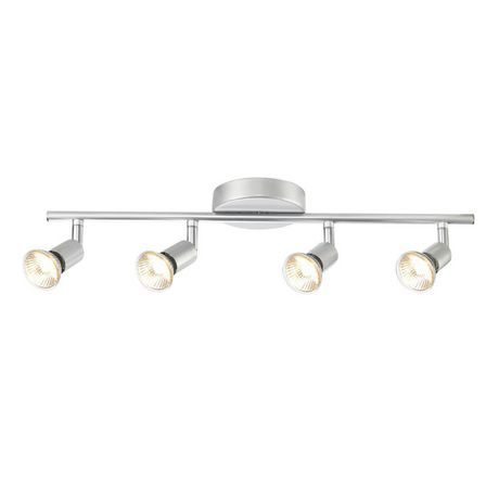 Globe Electric 58932 4 Light Track Bar, Silver Finish - image 1 of 1