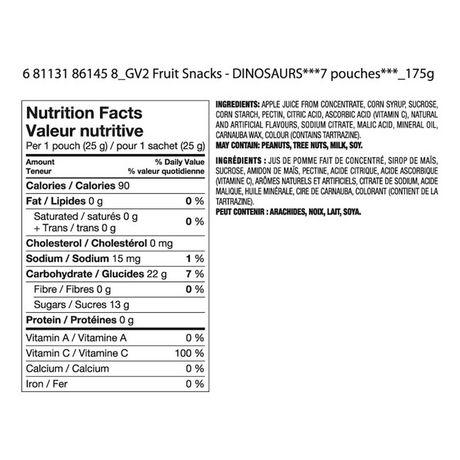 Great Value Dinosaur Fruit Snacks - image 2 of 2