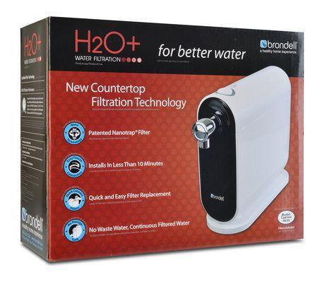 Système de filtration d'eau H2O+ Cypress de Brondell de comptoir - image 7 de 7