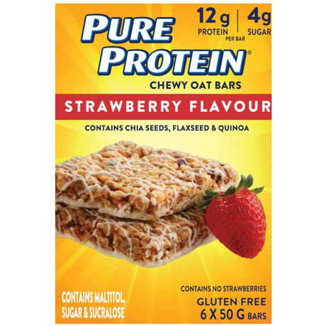 Pure Protein Chewy Oat Bars Strawberry Flavour - image 1 of 3