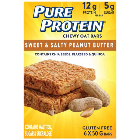 Pure Protein Chewy Oat Bars Sweet & Salty Peanut Butter