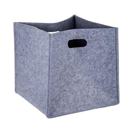 Truu Design, Ensemble de paniers de rangement, carré en feutre, Gris clair - image 4 de 6