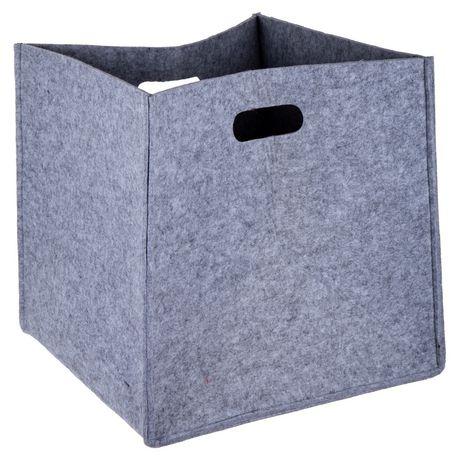 Truu Design, Ensemble de paniers de rangement, carré en feutre, Gris clair - image 3 de 6