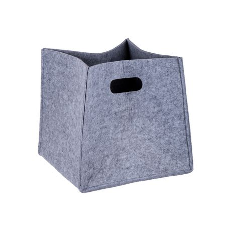 Truu Design, Ensemble de paniers de rangement, carré en feutre, Gris clair - image 5 de 6