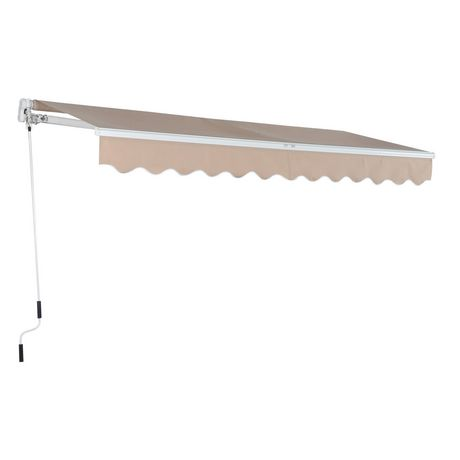 Outsunny 13'x8' Manual Retractable Awning | Walmart Canada