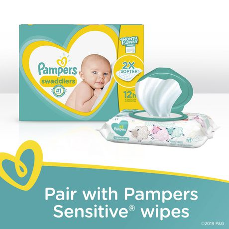 PAMPERS SWADDLERS COUCHES- FORMAT SUPER - image 2 de 4