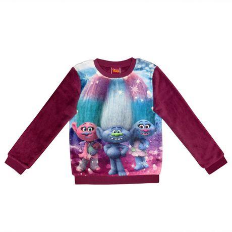 ec12f8fe DreamWorks Trolls Girls' Plush Long Sleeve Pop-over | Walmart Canada