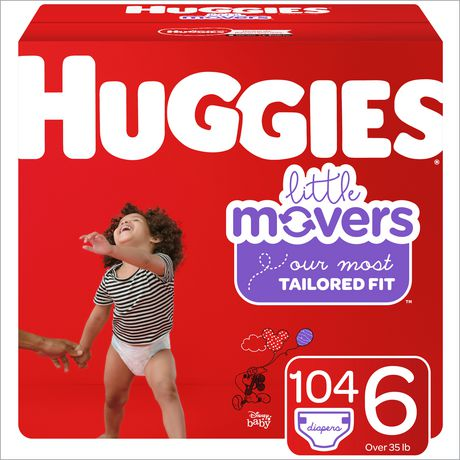 HUGGIES Little Movers Diapers, Econo Pack - image 1 of 4