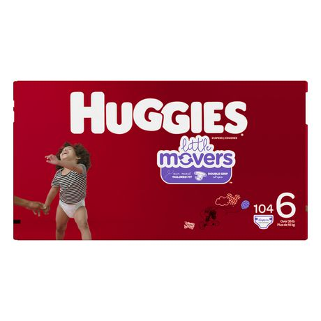 HUGGIES Little Movers Diapers, Econo Pack - image 2 of 4