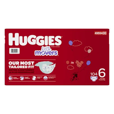 HUGGIES Little Movers Diapers, Econo Pack - image 3 of 4