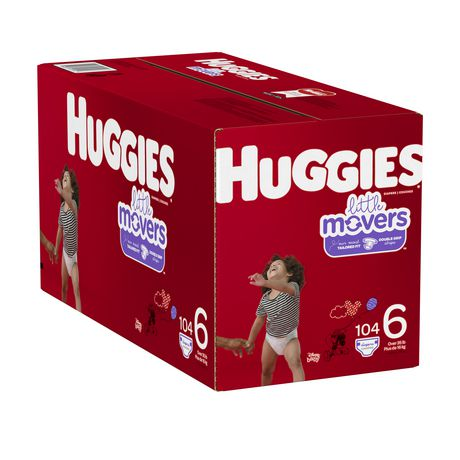 HUGGIES Little Movers Diapers, Econo Pack - image 4 of 4