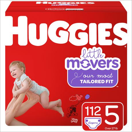 HUGGIES Little Movers Diapers, Mega Colossal Pack - image 1 of 4