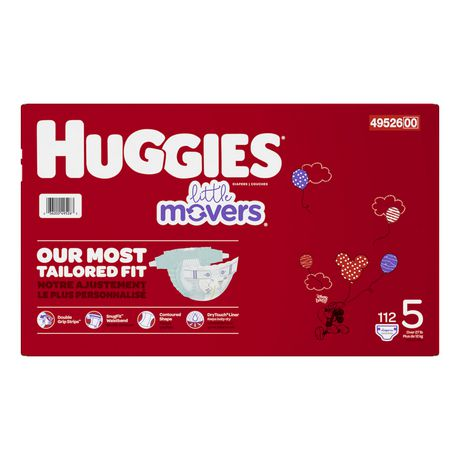 HUGGIES Little Movers Diapers, Mega Colossal Pack - image 3 of 4