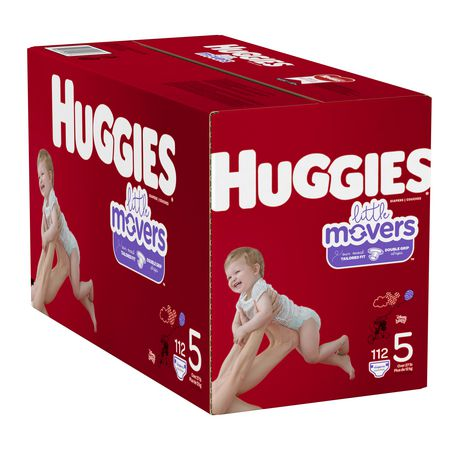 HUGGIES Little Movers Diapers, Mega Colossal Pack - image 4 of 4