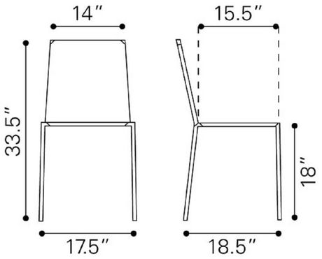 Zuo Alex Dining Chair, Set of 4 - image 4 of 7