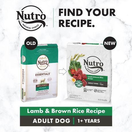 Nourriture pour chiens adultes NUTRO WHOLESOME ESSENTIALS Recette avec agneau engraissé au pâturage et riz Nour sèche, chien - image 3 de 6