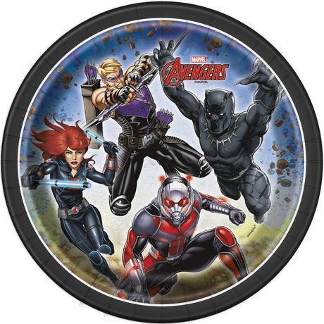 8 Assiettes Avengers de Marvel en papier de 7 po - image 1 de 1