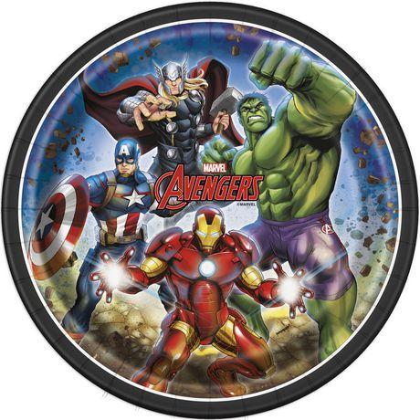 8 Assiettes Avengers de Marvel en papier de 9 po - image 1 de 1