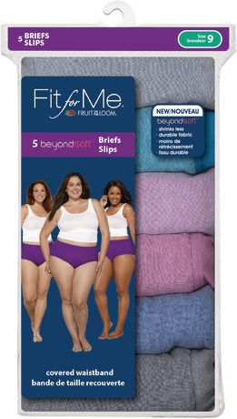 Fruit of the Loom Ladies Fit for Me beyond Soft Briefs, 5-Pack - image 3 of 3