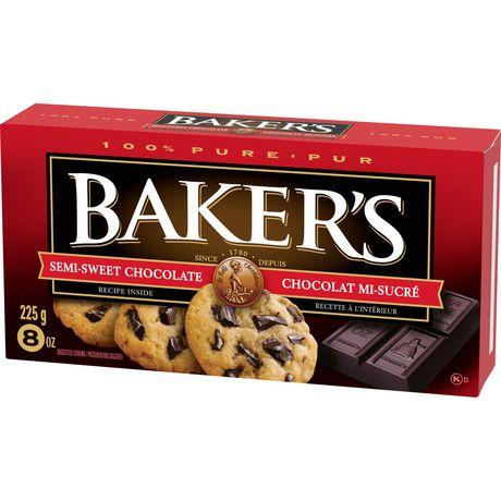 Barre de chocolat mi-sucré 100 % pur Baker's pour la cuisson - image 3 de 4