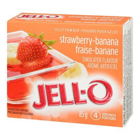 Poudre pour gelée Jell-O Fraise-banane – préparation pour dessert en gélatine - image 3 de 4