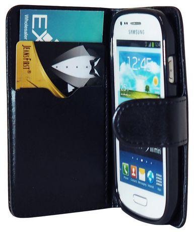 Étui portefeuille Exian en cuir pour Samsung Galaxy S3 Mini ...