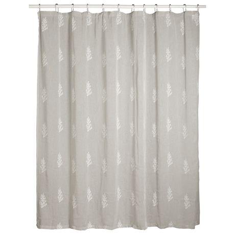 springmaid shimmering botanical shower curtain
