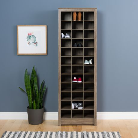 Prepac Space-Saving Drifted Gray Shoe Storage Cabinet | Walmart Canada