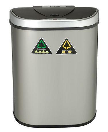 nine stars poubelle automatique capteur recyclage en acier inoxydable dzt 70 11r 70 litres. Black Bedroom Furniture Sets. Home Design Ideas